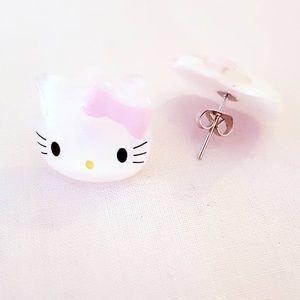Jewelry - 🎀🎀 CUTEST HELLO KITTY STYLE EARRINGS 🎀🎀